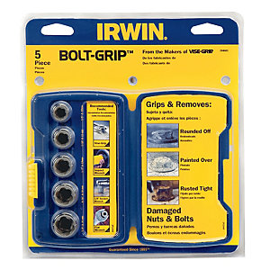 Irwin Bolt-Grip 5 Piece Socket Set
