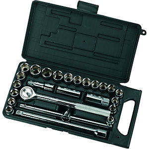 Wickes Carbon Steel 25 Piece Socket Set