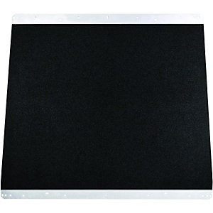 Rangemaster Toledo Glass Splashback - Black Gloss 900mm