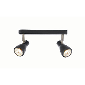 Inlight Curtis 2 Light Spotlight Bar Black - 35W GU10