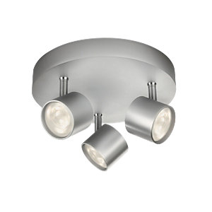 Philips Star LED Aluminium 3 Plate Spotlight - 3 x 3W