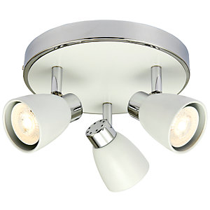 Wickes Major LED White & Chrome Triple Plate Spotlight - 3 x 4.8W