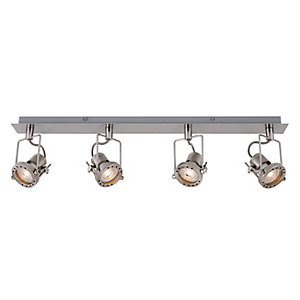 Wickes Studio LED Brushed Chrome 4 Bar Spotlight - 4 x 5.3W