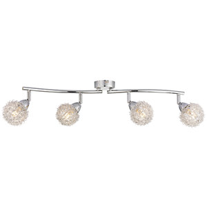 Wickes Totas LED Brushed & Polished Chrome 4 Bar Spotlight - 2.7W