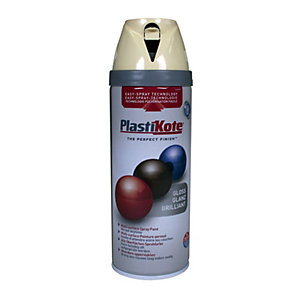 PlastiKote Multi-Surface Spray Paint - Gloss Antique White 400ml