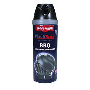 Plastikote Bbq Twist & Spray Paint - Black 400ml