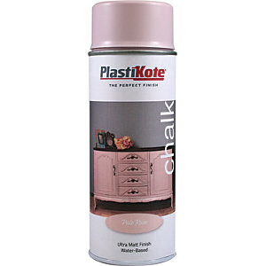 Plastikote Chalk Finish Spray Paint - Pale Rose 400ml