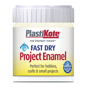 Plastikote Fast Dry Brush On Enamel - Creme De La Creme 59ml