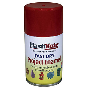 Plastikote Fast Dry Enamel Aerosol Spray - Insignia Red 100ml
