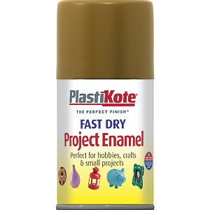 Plastikote Fast Dry Enamel Aerosol Spray - Nut Brown 100ml