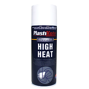 Plastikote Industrial High Heat Aerosol Spray - White 400ml