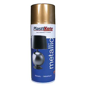 Plastikote Metallic Spray Paint - Gold 400ml