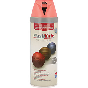Plastikote Multi-surface Spray Paint - Matt Dusty Coral 400ml