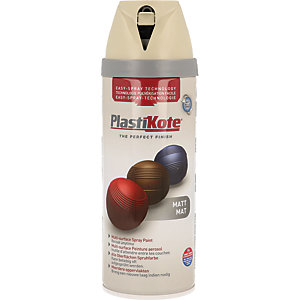 Plastikote Multi-surface Spray Paint - Matt French Grey 400ml