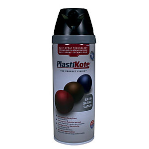 Plastikote Multi-surface Spray Paint - Satin Black 400ml