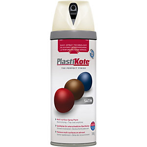 Plastikote Multi-surface Spray Paint - Satin Porcelain 400ml
