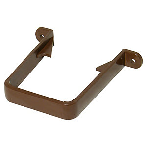 FloPlast 65mm Square Line Downpipe Clip - Brown