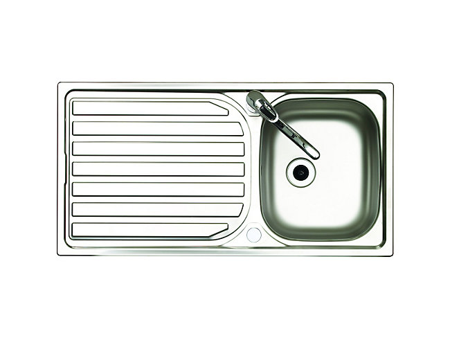 Reversible Kitchen Sink & Drainer With Tap