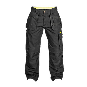 Stanley Pro Ripstop Trousers Black Long Leg