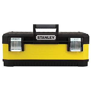 Stanley 1-95-613 Yellow Metal & Plastic Toolbox - 23in