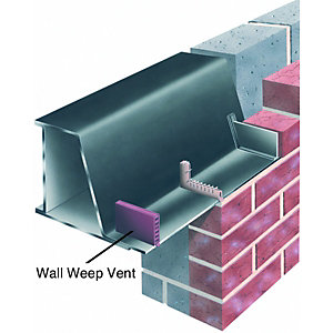 Wickes UPVC Wall Weep Vent - 10 X 65mm