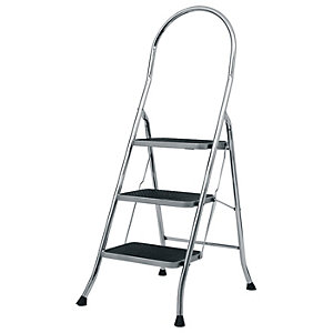 Abru 3 Step Chrome Stepstool