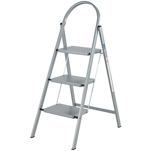 Abru 3 Step Grey Stepstool