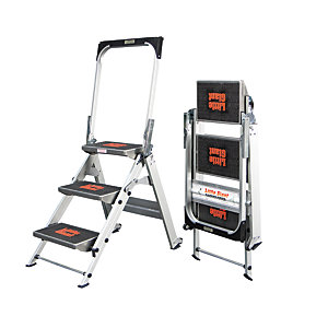 Tb Davies Little Giant 3 Tread Aluminium Safety Stepladder