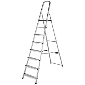 Werner High Handrail 8 Tread Aluminium Stepladder