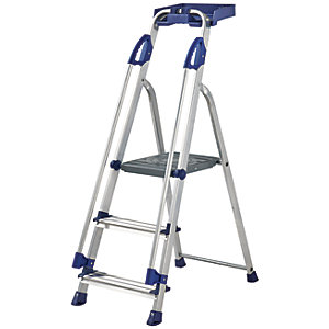 Werner Work Station 3 Tread Aluminium Stepladder