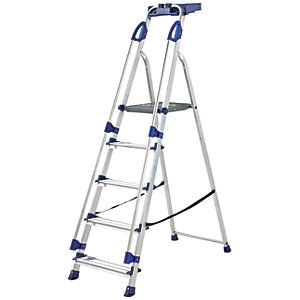 Werner Work Station 5 Tread Aluminium Stepladder