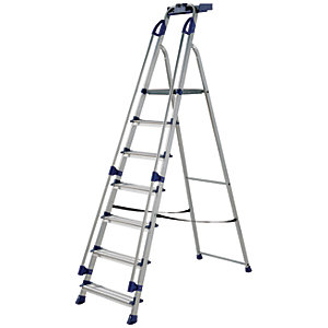 Werner Work Station 7 Tread Aluminium Stepladder