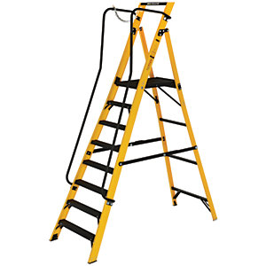 Youngman Megastep 8 Tread Fibreglass Platform Stepladder