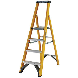 Youngman S400 4 Tread Fibreglass Platform Stepladder