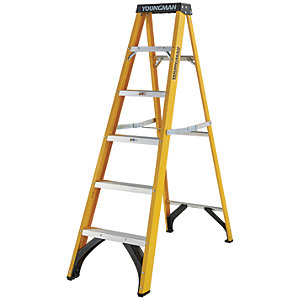 Youngman S400 6 Tread Fibreglass Stepladder
