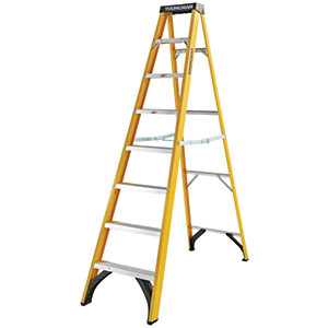 Youngman S400 8 Tread Fibreglass Stepladder