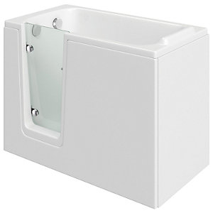 Wickes Comfort Left Hand Straight Easy Access Bath - 1200 x 660mm