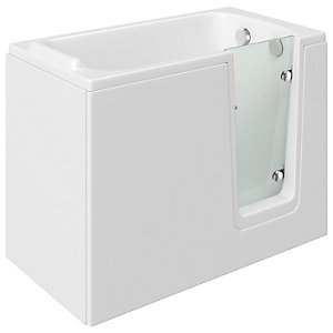 Wickes Comfort Right Hand Straight Easy Access Bath - 1200 x 660mm
