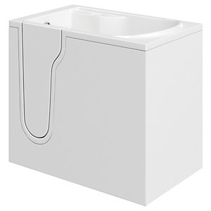 Wickes Freedom Straight Left Hand Easy Access Bath - 1070 x 660mm