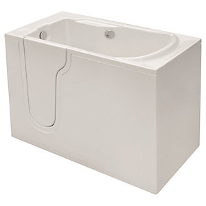 Wickes Freedom Straight Left Hand Easy Access Bath - 1270 x 660mm