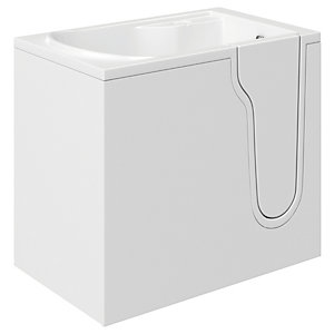 Wickes Freedom Straight Right Hand Easy Access Bath - 1070 x 660mm