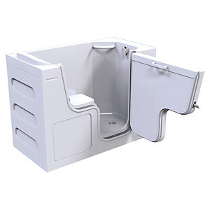 Wickes Serenity Right Hand Straight Wide Door Easy Access Bath - 1300 x 660mm