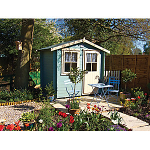 Shire 10 x 10 ft Avesbury Traditional Garden Summerhouse with Opening Window