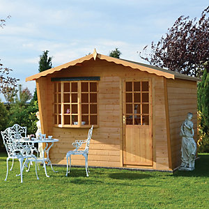 Shire 10 x 10 ft Goodwood Large Traditional Summerhouse with Bay Window