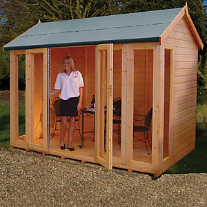 Shire 10 x 8 ft Blenheim Full Length Double Folding Door Summerhouse