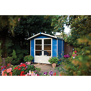Shire 7 x 5 ft Apex Double Door Dip Treated Summerhouse