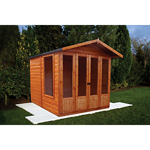 Shire 7 x 7 ft Parham Apex Double Door Dip Treated Summerhouse