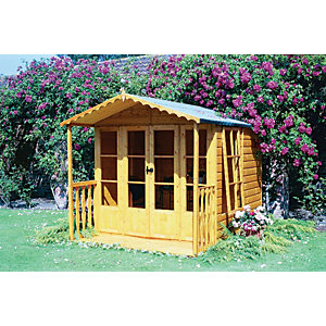 Shire 7 x 9 ft Kensington Double Door Summer House With Veranda