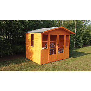 Shire 8 x 6 ft Milton Apex Double Door Dip Treated Timber Summerhouse