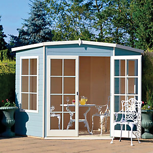 Shire 8 x 8 ft Hampton Double Door Corner Summerhouse